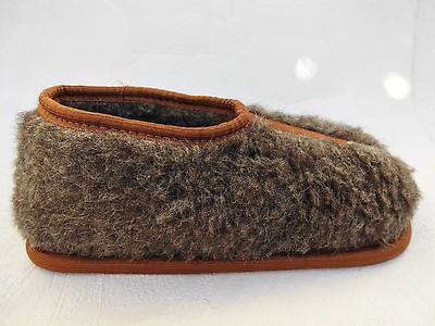 WARME Hausschuhe Gr.39 SCHURWOLLE, Braun (Made in Poland 10-11-4-44)