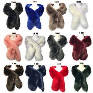 Women-Ladies-Winter-Faux-Fur-Scarf-Neck-Warmer-Wrap-Collar-Shawl-Stole-Long