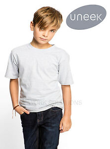 Uneek-UC306-Childrens-School-PE-T-Shirts-Boys-Tee-Soft-100-Cotton-Crew-Neck