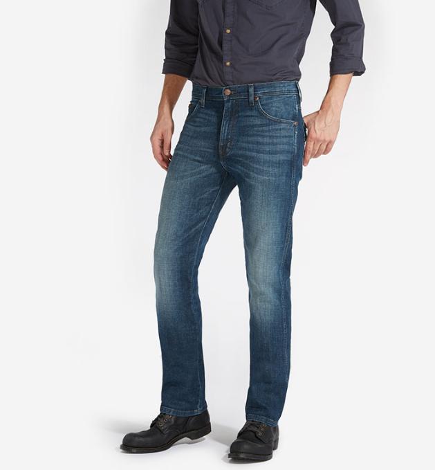 Jeans wrangler uomo uomo uomo arizona stretch regular straight verde sky w1207777u 7fb4ad