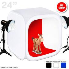 "Photo Studio Photography Light Tent Backdrop Kit Cube 24""/60cm Lighting In A Box"