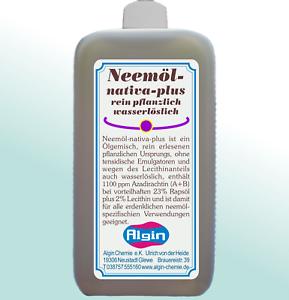 Neemoel-rein-pflanzlich-1000-ml-HDPE-Flasche-wasserloeslich-keine-Emulgatoren