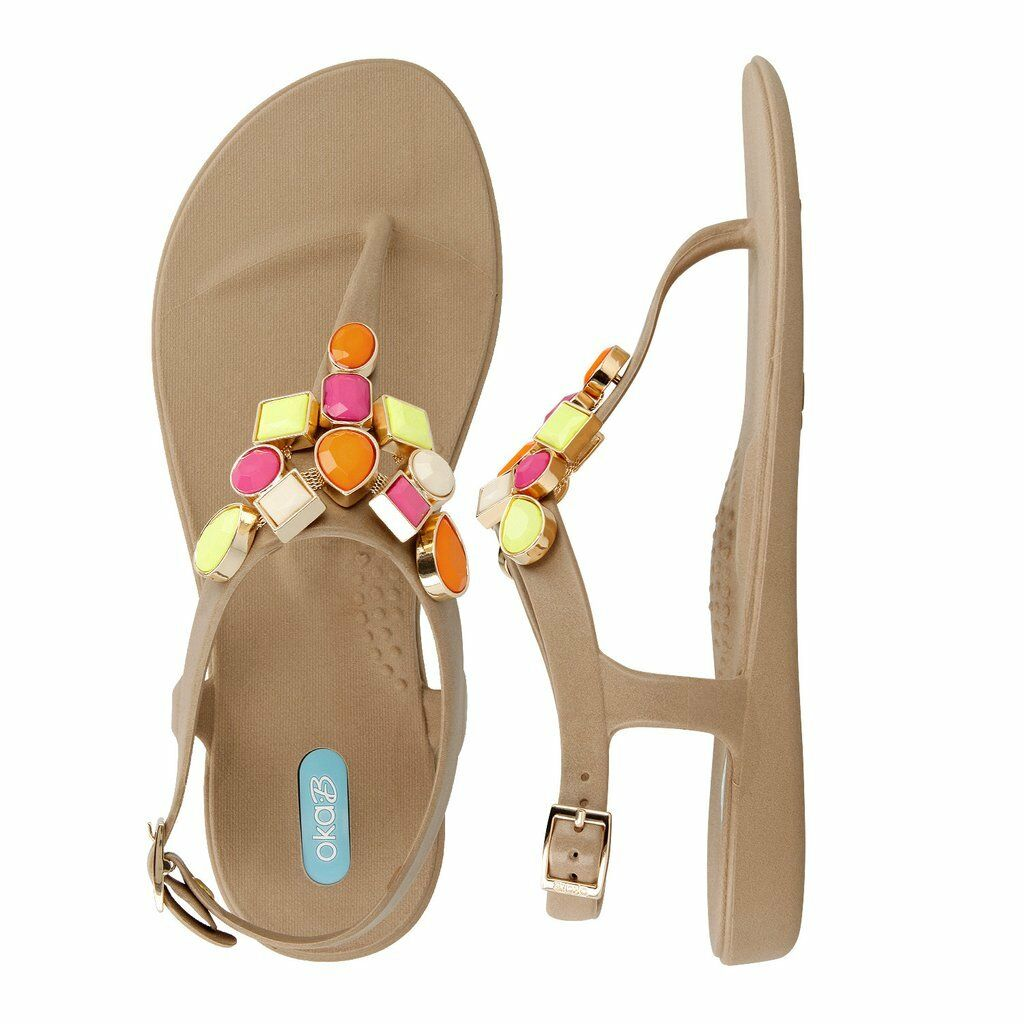 Nouveau Okab Kensley Chai Bead T Sandales Plates Tongs chaussures Femme Taille 8