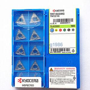 10pcs-box-Kyocera-TPMT160304HQ-TN60-TPMT321HQ-Cermet-Inserts-New-Free-Shipping