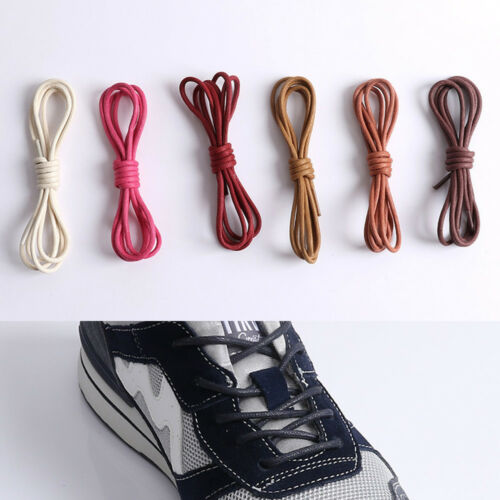 2pcs Unisex 60-180cm Round Waxed Shoelaces Shoes Strings Boot Sport Cord Ropes