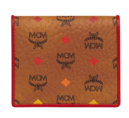MCM Two Fold Flat Wallet In Skyoptic Visetos MYS9SSV65CA Free Shipping