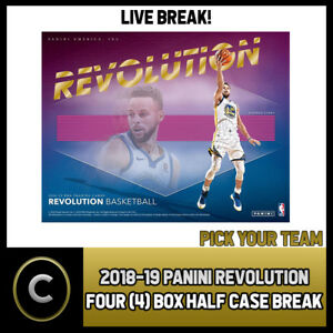 2018-19-PANINI-REVOLUTION-4-BOX-HALF-CASE-BREAK-B044-PICK-YOUR-TEAM