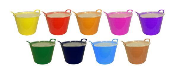 42l Flexi Tub-completo Con Coperchio In Plastica Disponibile In 9 Colori Periodo Fisso, Stoccaggio