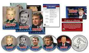 DONALD TRUMP Life & Times 10 Piece Ultimate U.S Coin & Trading Card Collection