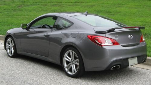 UNPAINTED for 2010-2016 HYUNDAI GENESIS COUPE REAR SPOILER W//LED LIGHT WING
