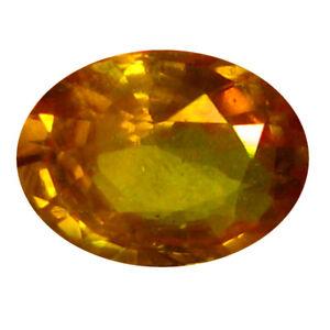 0-68-CT-AAA-Superbe-Forme-Ovale-6-X-5-mm-Orange-Jaune-Saphir-Gemmes-Naturelles