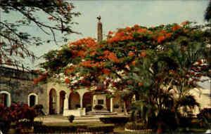 PANAMA-Plaza-de-Francia-1971-Christobal-Stempel-Briefmarke-Canal-Zone-gelaufen