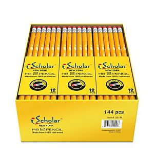 Gross Box Pack Pencils With Latex Eraser School Office Drawing Pen Supplies Bulk