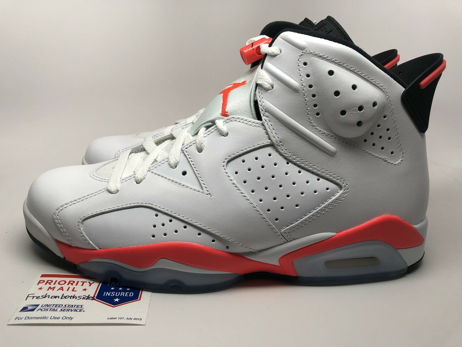 Nike Air Jordan VI 6 Retro White/Infrared xi iv sz 14 NEW!
