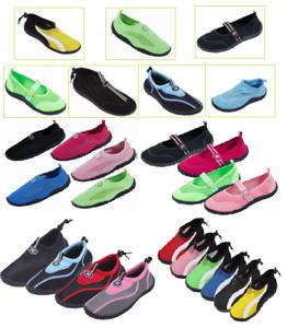 Women's Athletic Mesh Pool Beach Water Shoes Aqua Socks Multiple Styles |  eBay