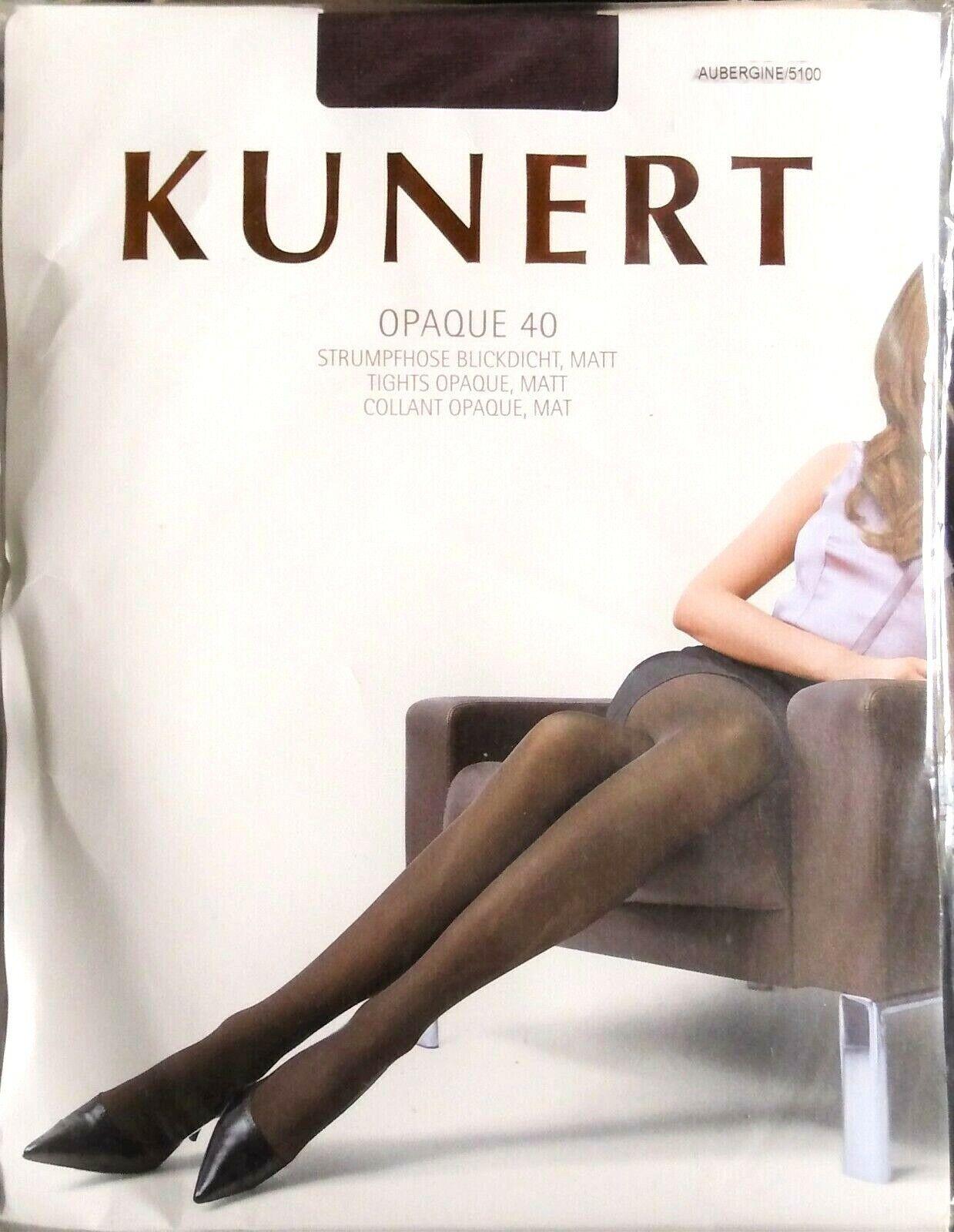 Kunert OPAQUE 40 Size I 38-40 Aubergine