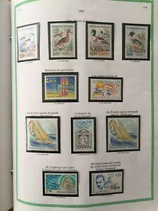 Timbres France 1993 neufs** sur feuilles YT 2785/2853 + carnets + blocs