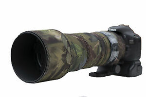 Sigma-150-600mm-CONTEMPORARY-Protection-Neoprene-lens-cover-Woodland-Green-Camo