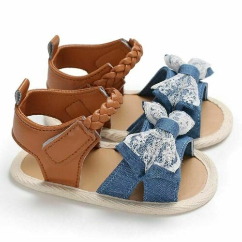Fashion Infant Baby Girl Soft Sole Sandals Toddler Summer Shoes Bowknot Non-slip