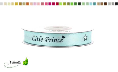 20m Satinband 10mm B-Ware Schleifenband Dekoband Babyparty Geburt Taufe Princess