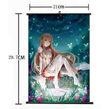 Hot Japan Anime Sword Art Online Sexy Yuki Asuna Home Decor Wall Scroll 21*30CM