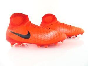 cheap for discount 62d8e 8c857 Das Bild wird geladen Nike-Magista-Obra-II-FG-ACC-Flyknit-Rot-