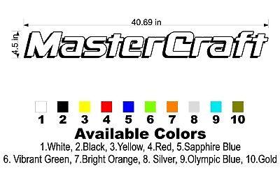 "MasterCraft Hull Decals 5/""x55/"" #1"