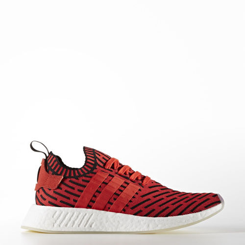 Adidas BB2910 Men NMD R2 Prime Knit Running shoes red white sneakers
