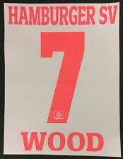 HSV Hamburger SV Wood Player Flock 25 cm fürs adidas Home Trikot 2016-2017