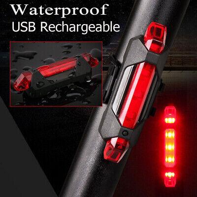 vélo LED rechargeable feu arrière USB  avertissement sécurité Super lumineux