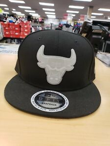 dec872534 Details about 3 New Era NBA Black Chicago Bulls Glow in the Dark Badge  9Fifty Snapbacks