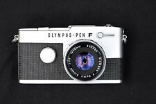 OLYMPUS - PEN F with ZUIKO 38mm f1.8 and PEN F leather case.