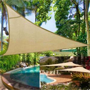 Details zu Sonnensegel Segel Dreieck 5x5x5 Rechteck Sonnenschutz Garten  Terrasse Balkon