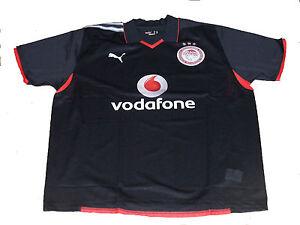 OLYMPIAKOS-GRECIA-Puma-Vodafone-3rd-Away-Negro-Manga-Corta-Camiseta-de-futbol