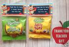 THANK YOU TEACHER GIFT END OF YEAR SWEET BAGS JELLY TOTS NOVELTY GIFT