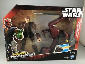 Disney-Hasbro-Star-Wars-Hero-Mashers-JEDI-SPEEDER-ANAKIN-SKYWALKER-New-Boxed-Toy