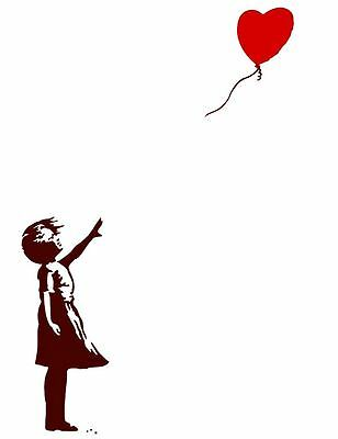 QUALITY BANKSY ART PHOTO PRINT (GIRL WITH BALLOON)