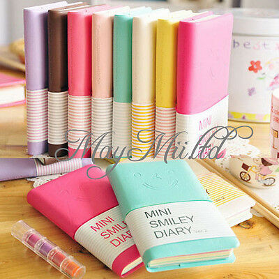 Diary Notebook Memo Cute Charming Portable Mini Smile Smiley Paper Note Book JM