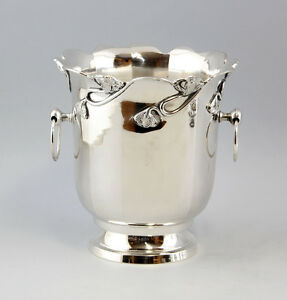 Decorative Arts Metalware Champagne Cooler In Art Nouveau Style New 9977009 Up-To-Date Styling