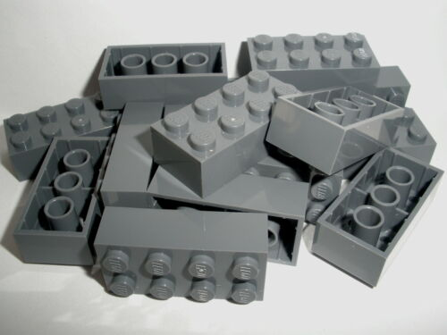 LEGO   15  graue  Bausteine  2x4  Noppen   NEU + +