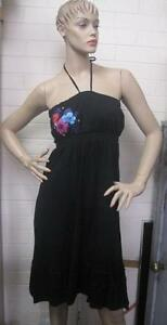 New-Ladies-Maui-Girl-Black-Summer-Dress-Size-12