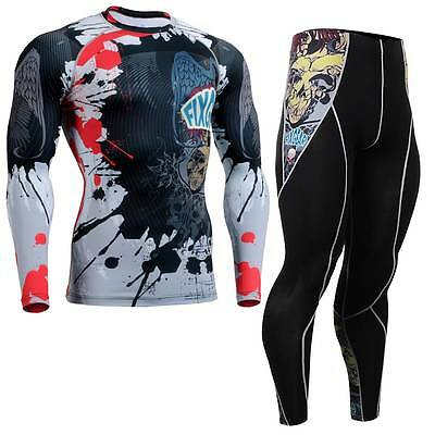 FIXGEAR CFL/P2L-B44 SET Compression Shirts & Tights for workout MMA training