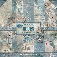 Blocco 10 Carte Scrapbooking 30x30 cm Blues © Stamperia SBBL26