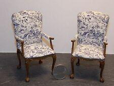 Dollhouse Miniature Vintage Bespaq Elegant Armchair Chair Set of 2 1:12 H147