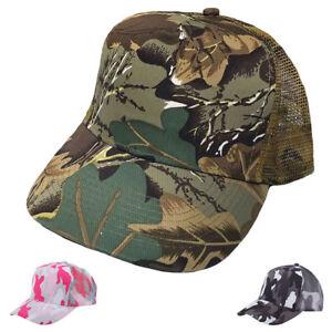 425acfcd65603 Camouflage Camo Hunting 5 Panel Trucker Baseball Mesh Back Hats Caps ...