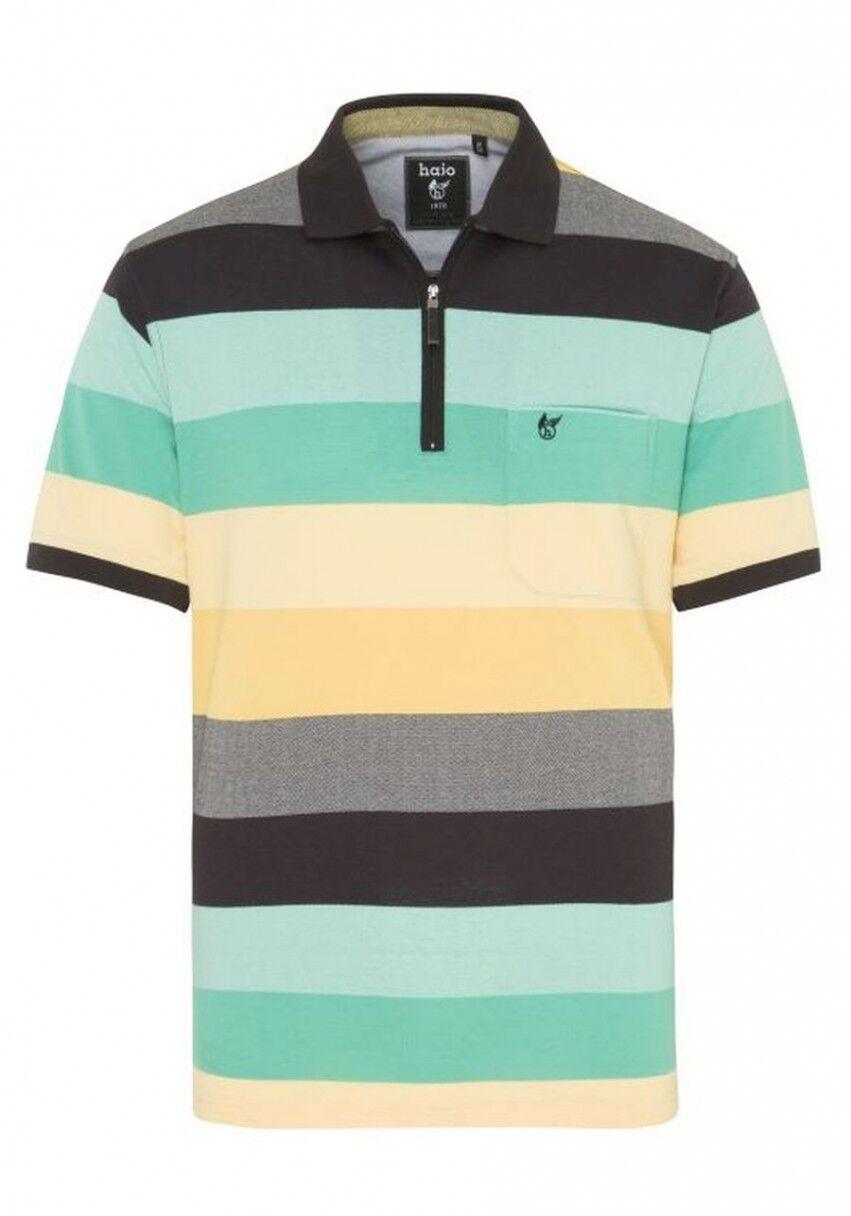 Hajo Poloshirt Pique Stay Fresh Kurzarm Bündchen Shirt 26100 100 gestreift