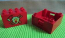 Lego Duplo SPECIALTY BRICK FIRE STATION RED AXE FIREMAN SQUARE PART