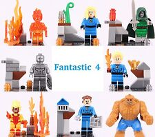 8pcs Fantastic Four Invisible Woman Human Torch The Thing Doctor Doom Lego