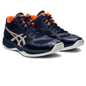 Asics Homme Netburner balistique FF MT Cour Chaussures-Bleu Marine Sports Squash