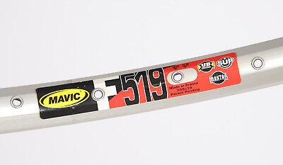 "SILVER 90S VINTAGE NOS MAVIC 519 MTB CLINCHER RIM 26/"" 36H 470g"